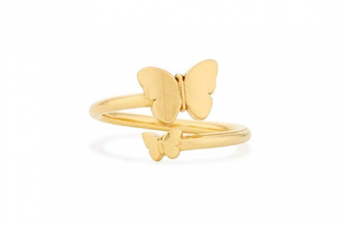 Alex and Ani Ring Wrap Butterfly Rafaelian Shiny Stackable Ring