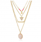 Choker Multi Chain Layered Necklace Set