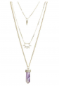 Fettero Natural Stone Multilayer Chain Necklace