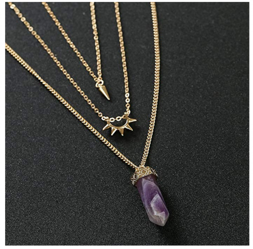 Fettero 14K Gold Plated layered necklace