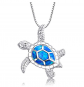 Victoria Jewelry Blue Opal Necklace