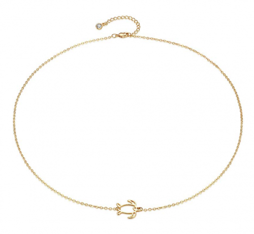 Mevecco Gold Dainty Circle Necklace