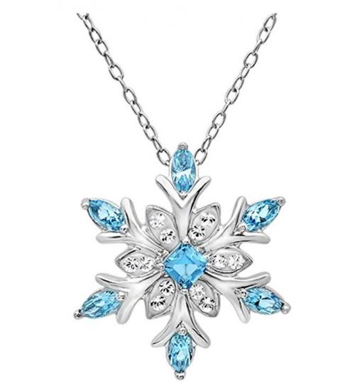Amanda Rose Collection Snowflake Pendant-Necklace