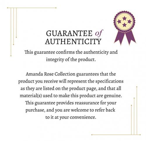 Amanda Rose Collection guarantee of authenticity