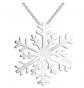 JO WISDOM Frozen Snowflake Pendant Necklace