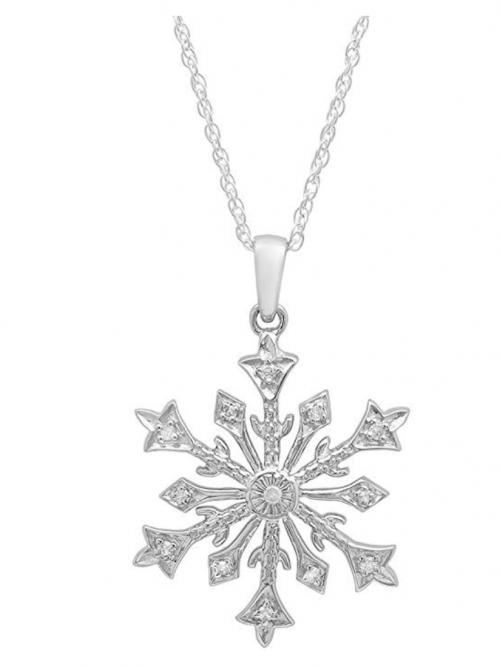 Dazzlingrock Collection Diamond Snowflake Pendant
