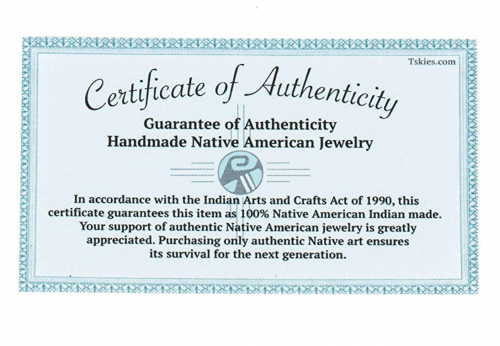 Tskies certificate of authenticity