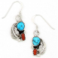 Rich Peel Turquoise & Coral Drop-Earrings