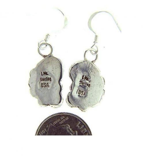 sterling silver stamp on earrings