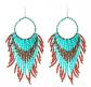 Tribal Tassel Bead & Hoop Earrings by Pashal
