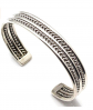 Handcrafted Navajo Sterling Silver Bracelet by E. Tahe