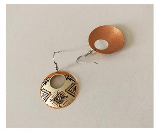 Copper Reflections earrings
