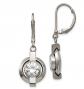 Black Bow Jewelry & Co. Titanium & Cubic Zirconia Lever Back Earrings