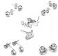 Bling Toman Titanium Earring Set