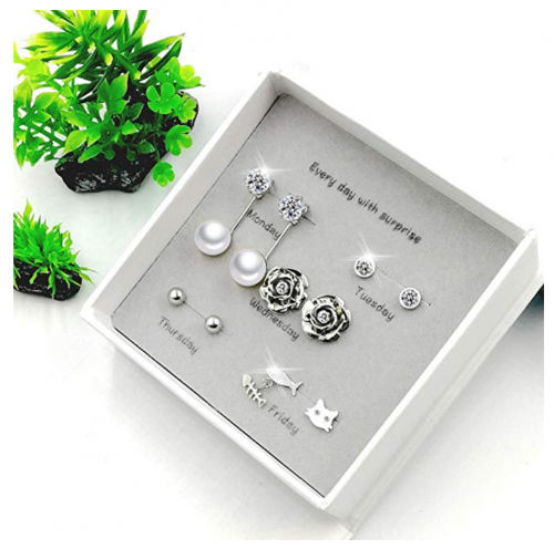 5 set titanium earrings