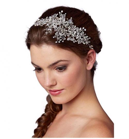 Mariell Couture Crystal Hair Vine