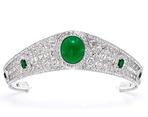 Vintage Austrian Crystals CZ Princess Wedding Bridal Crown