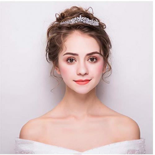 Sepbridals Cubic Zirconia Wedding Bride Crown