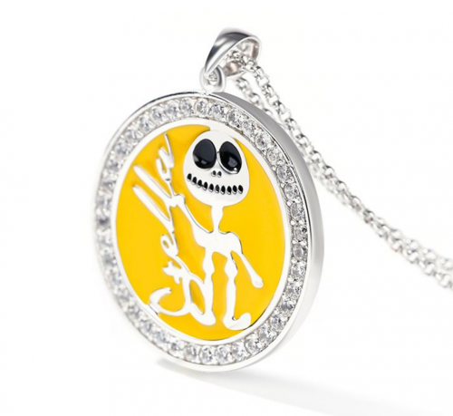 Jeulia Jack Skull necklace