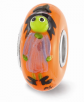 Fenton Hand Painted Witch & Broom Charm