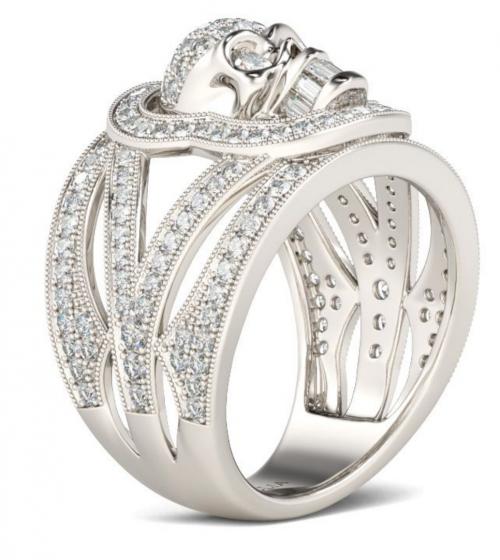 Jeulia skull ring
