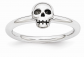 Rhodium-Plated Sterling Silver Stackable Ring