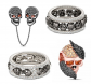 Black Skull Sterling Silver Jewelry Set