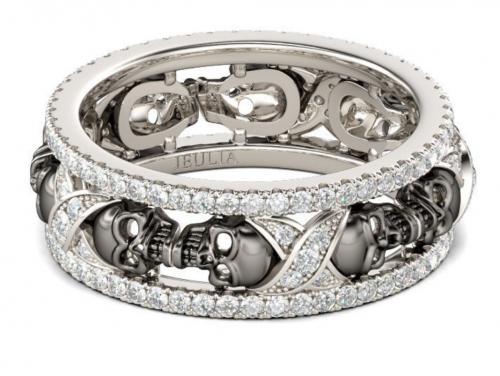 Jeulia Halloween skull ring