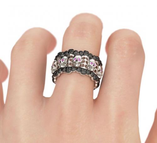 Jeulia pink stone Halloween ring