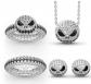 """Pumpkin King """"Jack Skull"""" Sterling Silver Jewelry Set"""