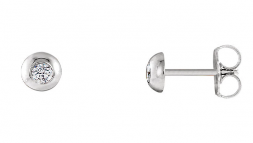Black Bow Jewelry & Co 5mm Platinum 1/8 CTW (G-H, SI2-SI3) Diamond Domed Stud Earrings