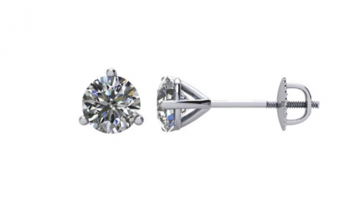 The Black Bow Jewelry Co. Diamond Screw Back Stud Earrings