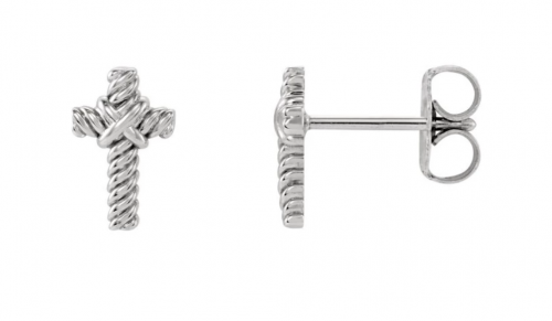 cross stud earrings for men