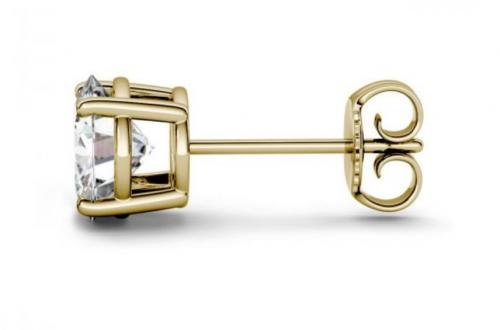 Charles & Colvard srud earrings for men