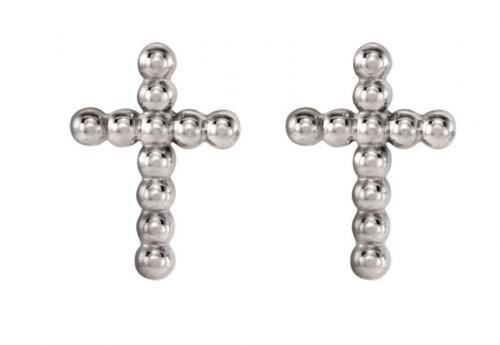 The Black Bow Jewelry Co. Beaded Cross Post Earrings