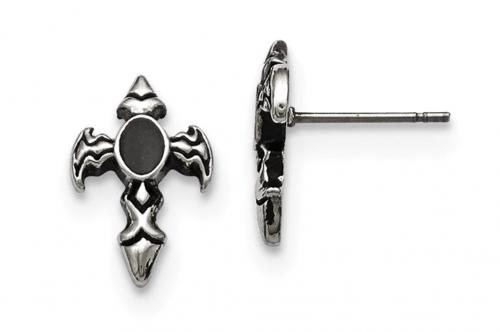 The Black Bow Jewelry Co. Antiqued Dagger Cross Earrings
