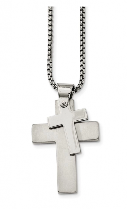 The Black Bow Jewelry Co. Double Cross Necklace
