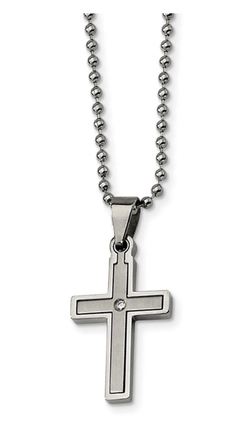 The Black Bow Jewelry Co. Diamond Accent Cross Necklace