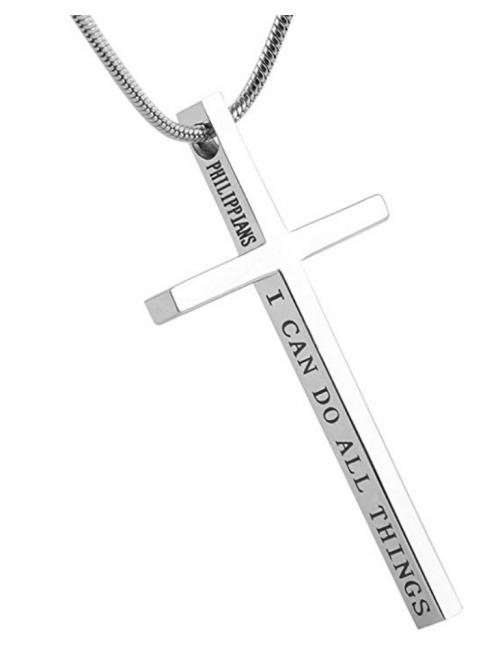 HZMAN Philippians 4:13 Cross Pendant