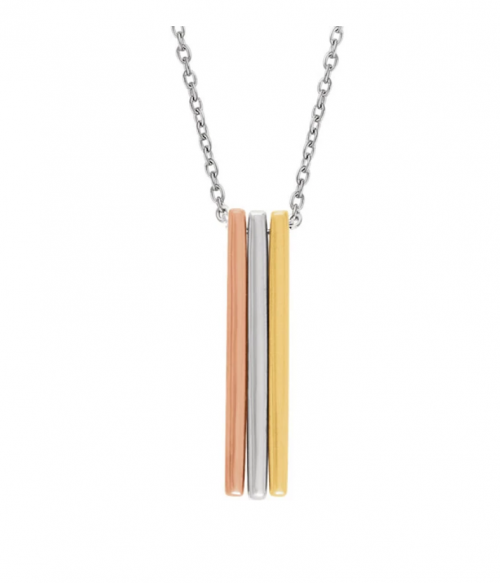 The Black Bow Jewelry Co. Triple Vertical Bar Necklace