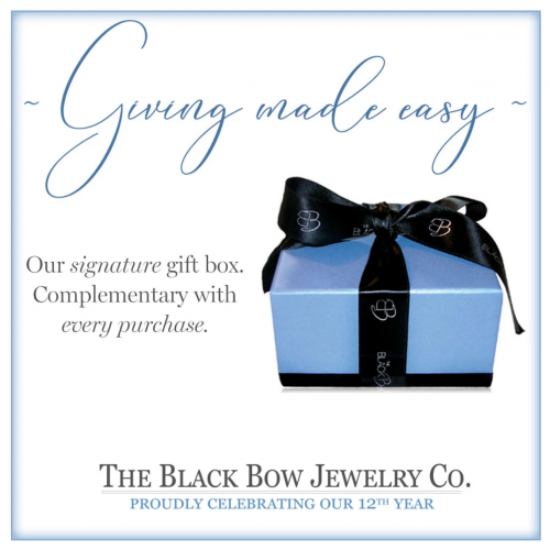 The Black Bow Jewelry Co gift box