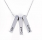Jeulia Personalized Vertical Bar Sterling Silver Necklace