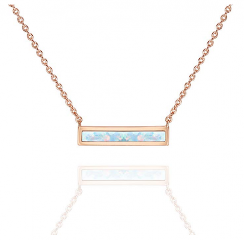 PAVOI Opal Gold Bar Necklace