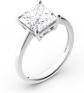 Jeulia Princess-Cut Solitaire Moissanite Engagement Rings