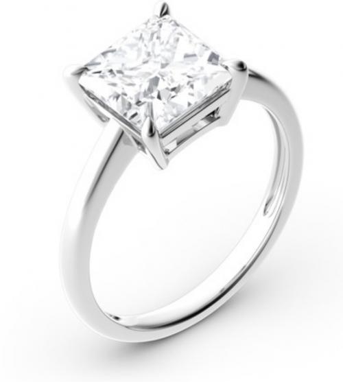 Jeulia Princess-Cut Solitaire Moissanite Engagement Ring