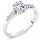 GemStone King 925 Sterling Silver Solitaire Moissanite Rings