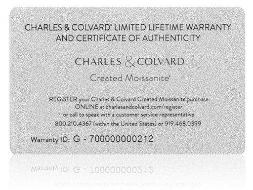 Charles & Colvard lifetime warranty