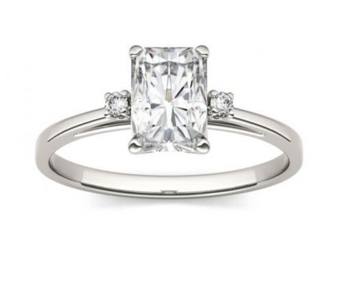 Charles & Colvard Colorless Moissanite Engagement Ring