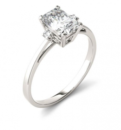 Charles & Colvard Solitaire Moissanite Ring from Profile