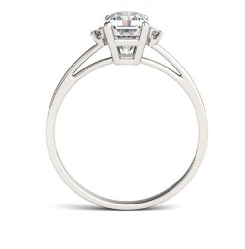 Charles & Colvard Solitaire Moissanite Ring Vertical